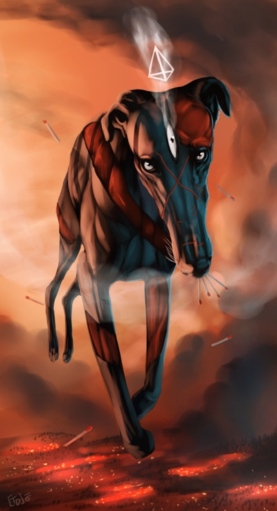 Burn - surreal, greyhound, dog - mozakade | ello