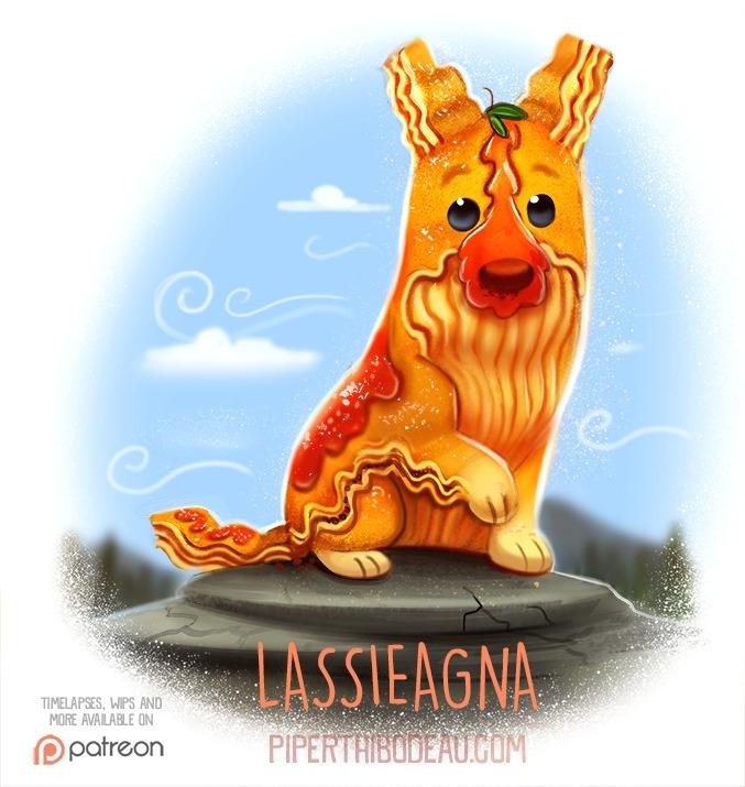 Daily Paint 1533. Lassieagna - piperthibodeau | ello