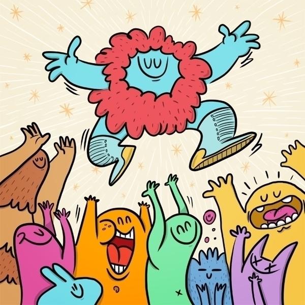JUMP - happy, friends, jump, fly - jcarcavilla   ello