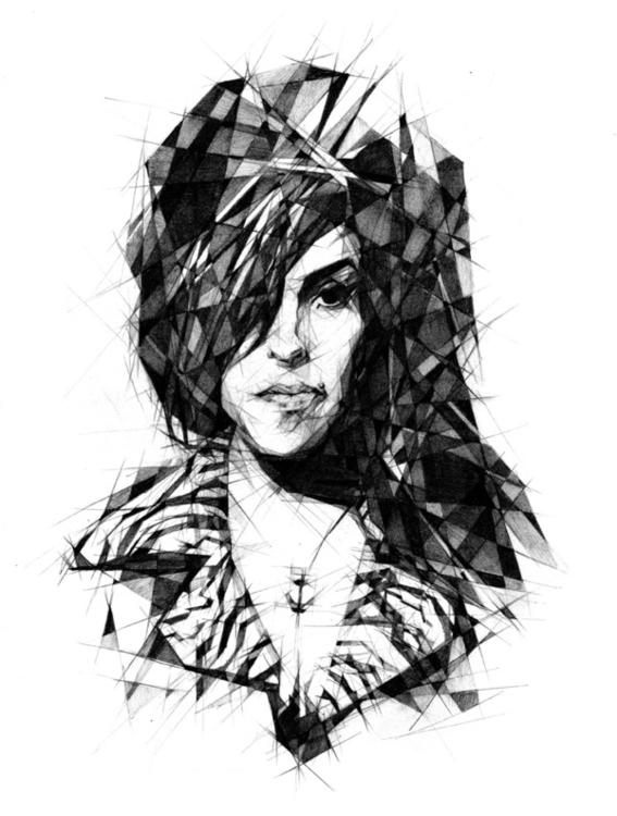 Amy Winehouse - pencil - pop, singer - zregreb | ello