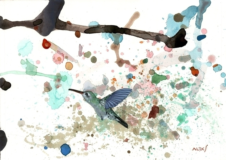 Colibrí - painting, abstractcomposition - alecs-1191 | ello