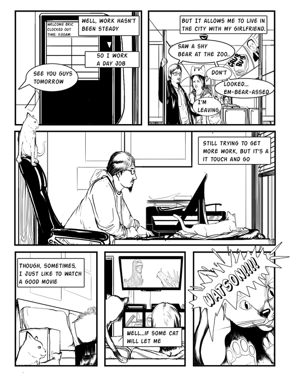 page 2 introduction comic - illustration - erroseart | ello