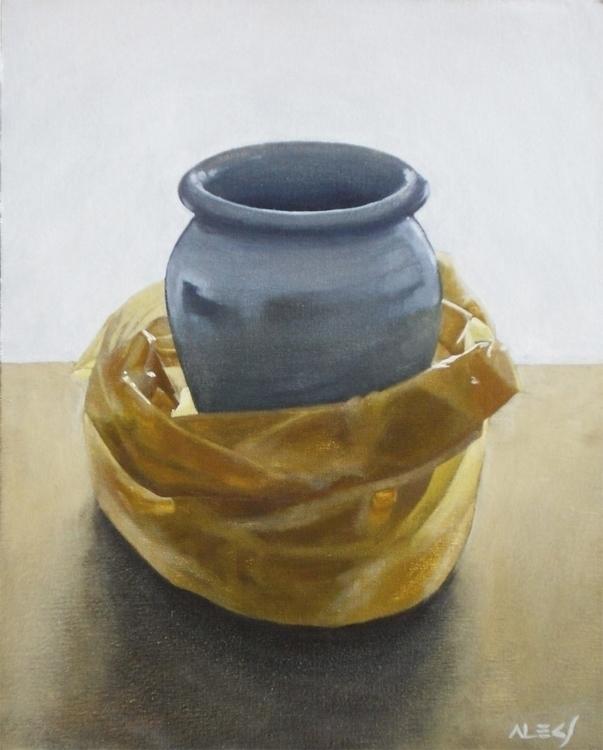 Jarrón en bolsa - painting, realistic - alecs-1191 | ello