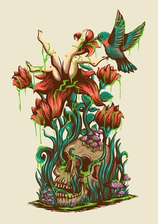 flower - flowers, skull, nature - itssummer85 | ello