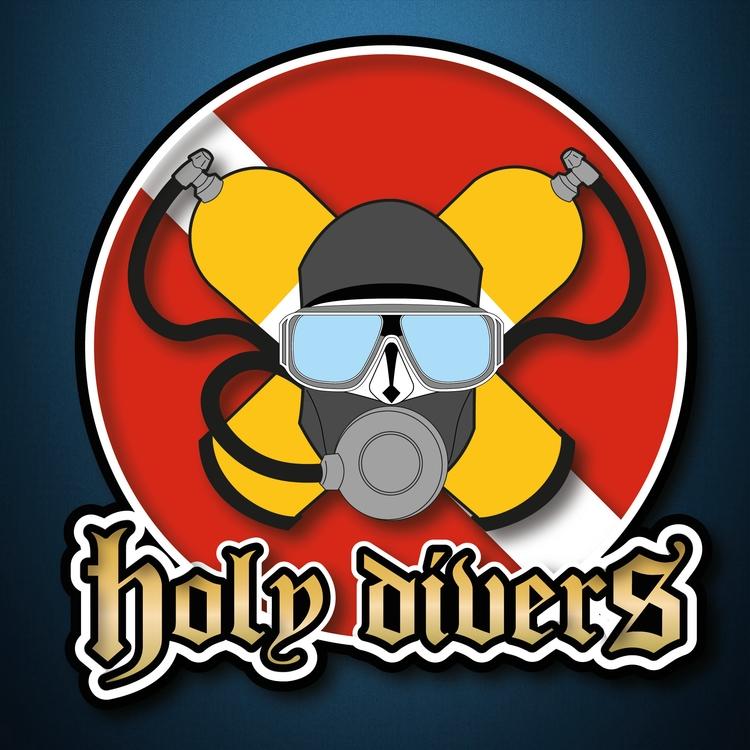 Holy Divers Club Logo Design - #CorporateIdentity#Branding#LogoDesign#Brands - sebiosalces | ello