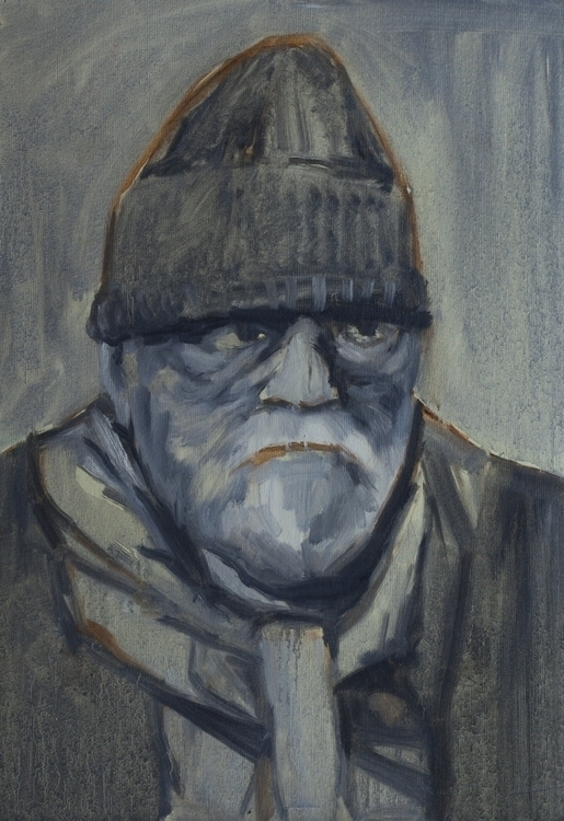 Grandfather - painting - mcmester | ello