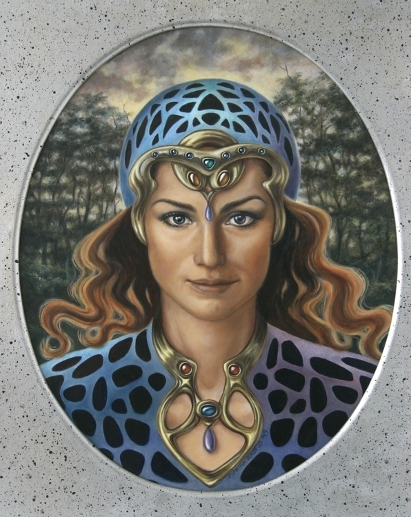 Wood fairy, oil panel, 28x34 cm - marina-7013 | ello