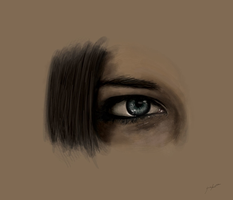 Eye study. Visit press works - painting - gabrielenatussi | ello