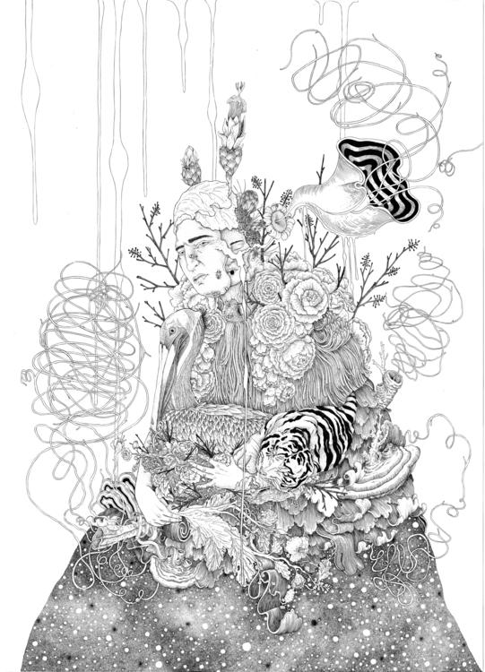 drawing, #ink, #inkdrawing, #largeformatdrawing - cynthialopez-8829 | ello