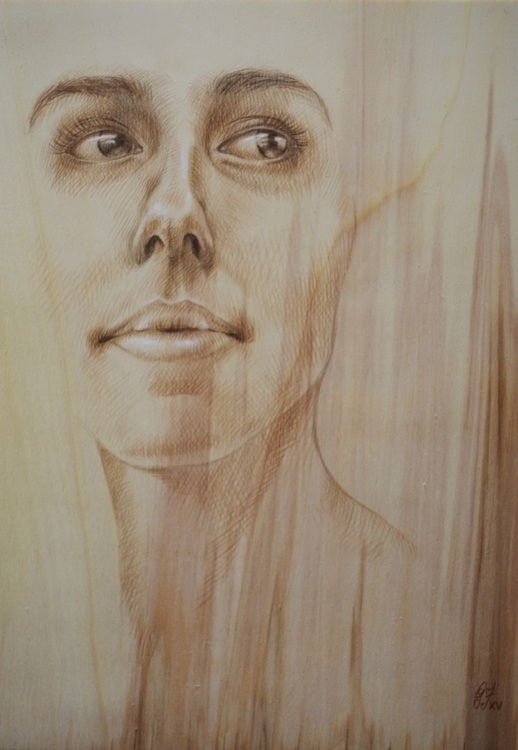 Brown charcoal wood - illustration - giuliafederici | ello