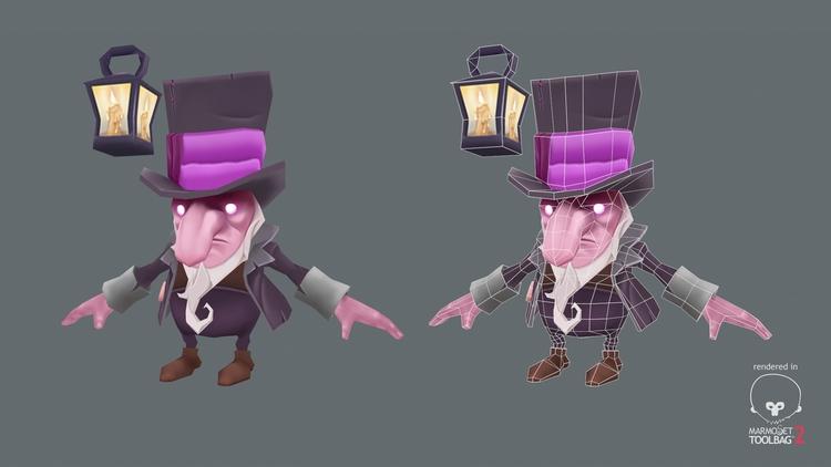 poly fantasy dwarf model - 3d, lowpoly - ghostb | ello