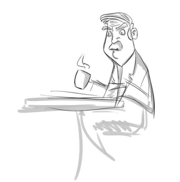 Coffee - #Illustration#DigitalArt#CharacterConcept - sebiosalces | ello