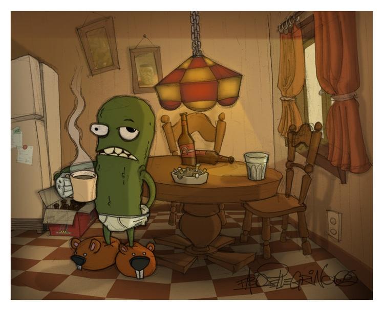 morning pickle - superfabiobros   ello