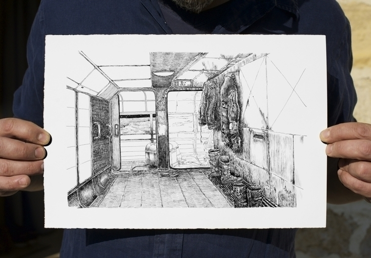 loading ship - drawing - stephanemercier | ello