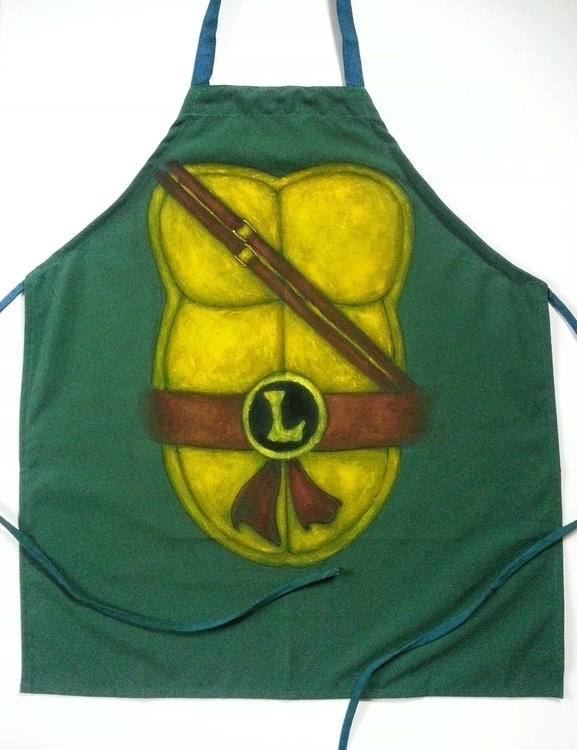 Handpainted Leonardo apron, gif - viperxmns | ello