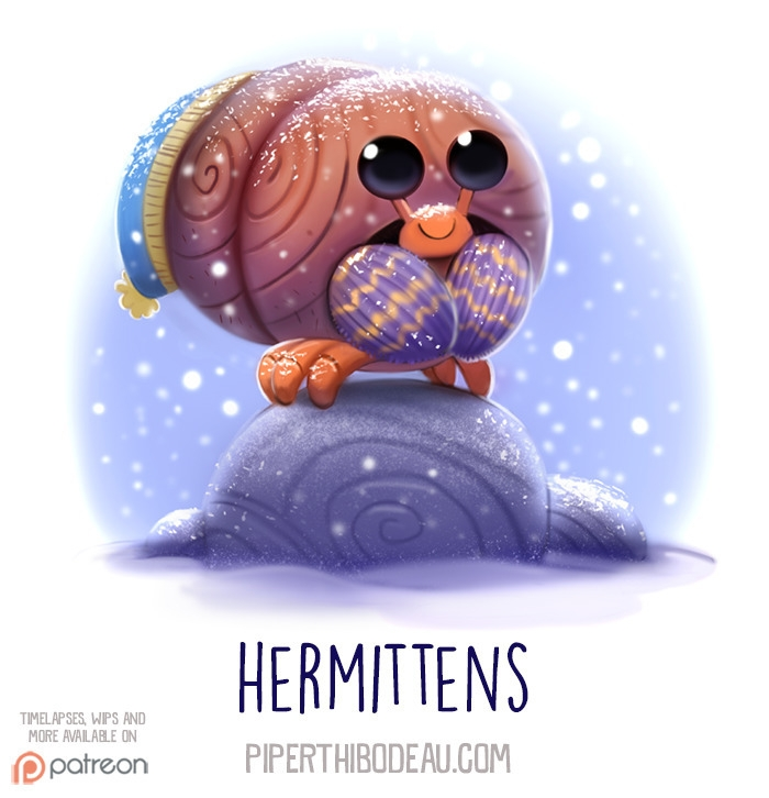 Daily Paint 1537. Hermittens - piperthibodeau | ello
