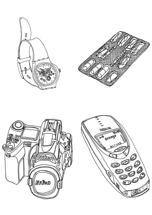 watch cellular phone - illustration - stephanemercier | ello