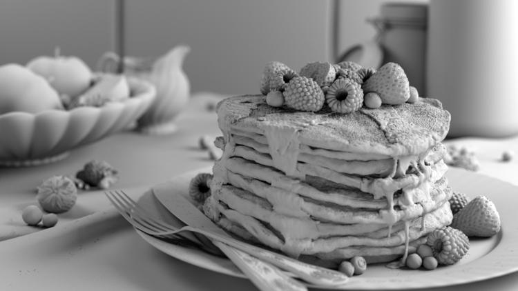 3d, 3dart, pancakes, clay - arturtamiola | ello