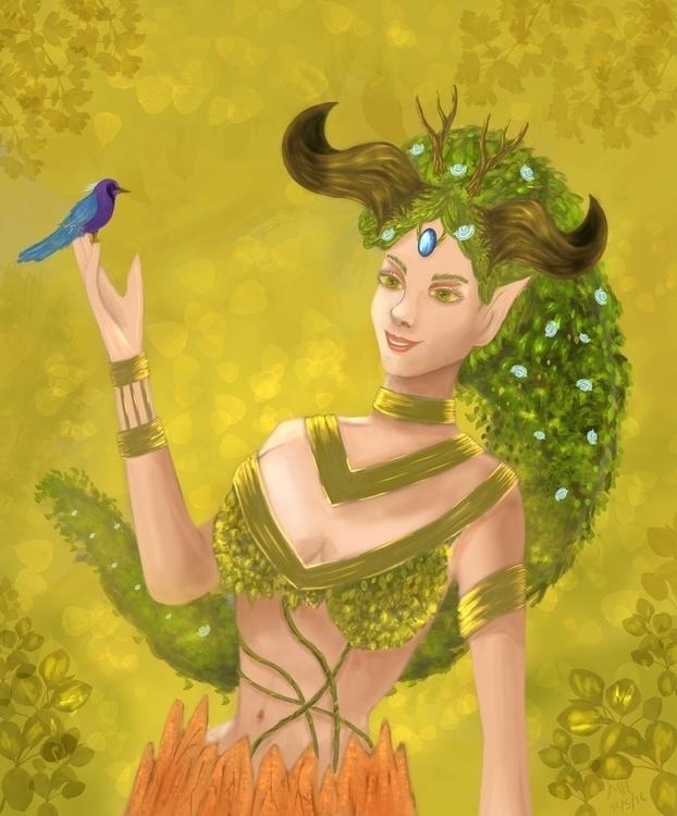 Tyrant Girl - illustration, painting - itachi_uchiha-9070   ello