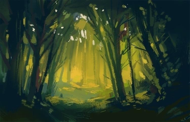 Forest Atmosphere - illustration - nicolexu-8498 | ello