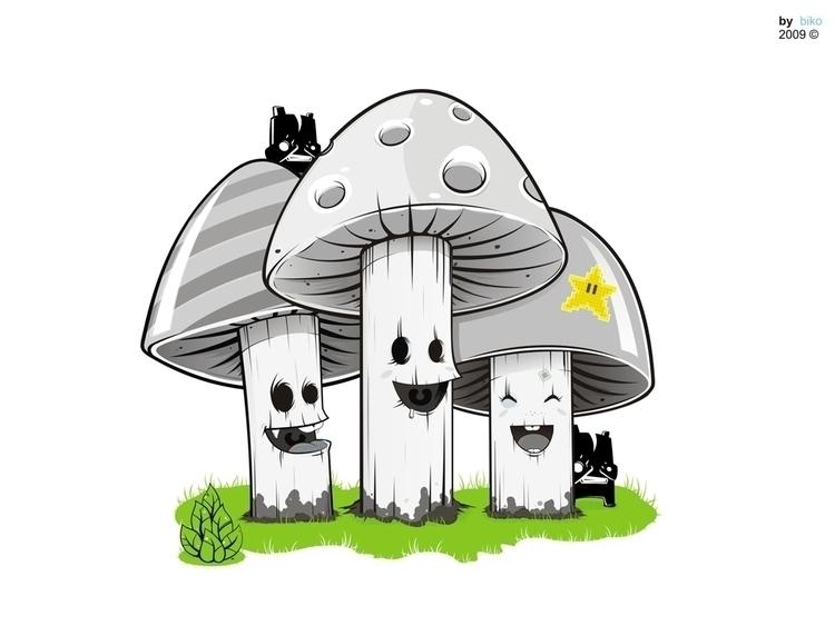 Mushi LOVE - illustration, characterdesign - biko-1282   ello