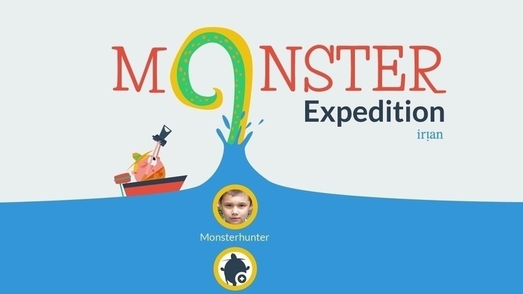 Title screen app Monster Expedi - sweatshopillustrations | ello