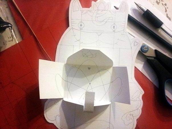 Craft card - envelope, papercraft - biko-1282   ello