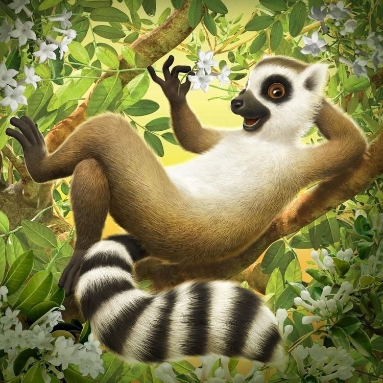 Lemur 2014 - lemur, illustration - charactermill | ello