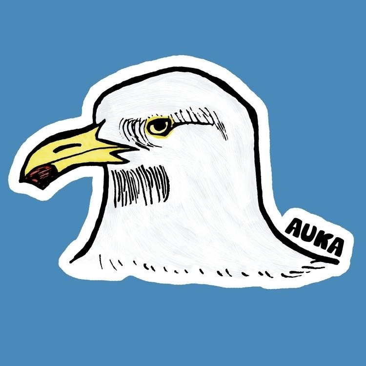 Seagull - illustration, characterdesign - kumavilla | ello