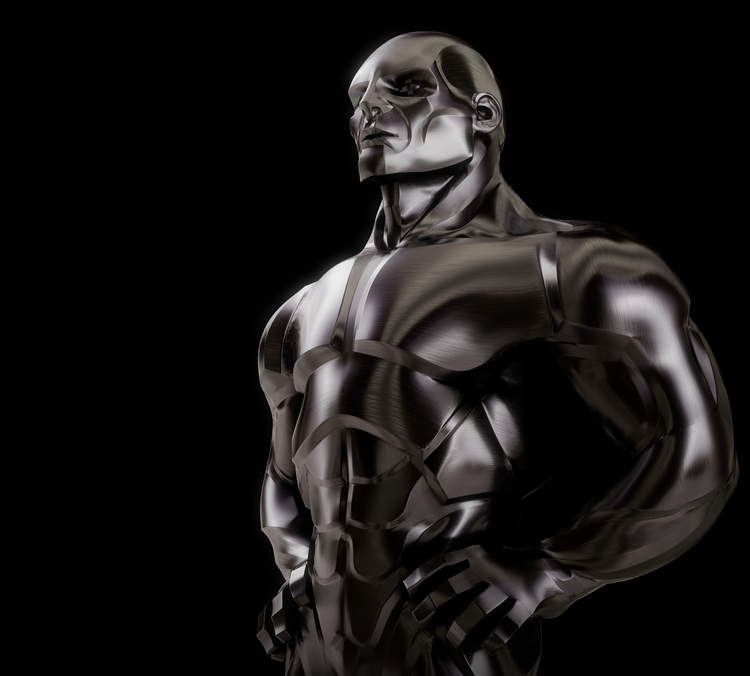 Steelman - illustration, steel, 3d - charactermill | ello