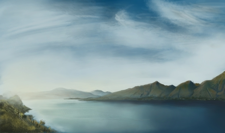 Lake Practice - conceptart, drawing - julian_gomez | ello