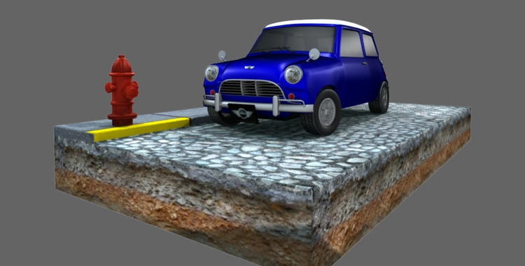 High poly Mini Cooper. Personal - digigrrl | ello