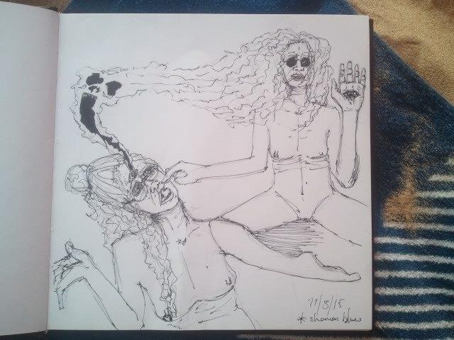 Shaman blues Study painting 201 - annagomes | ello