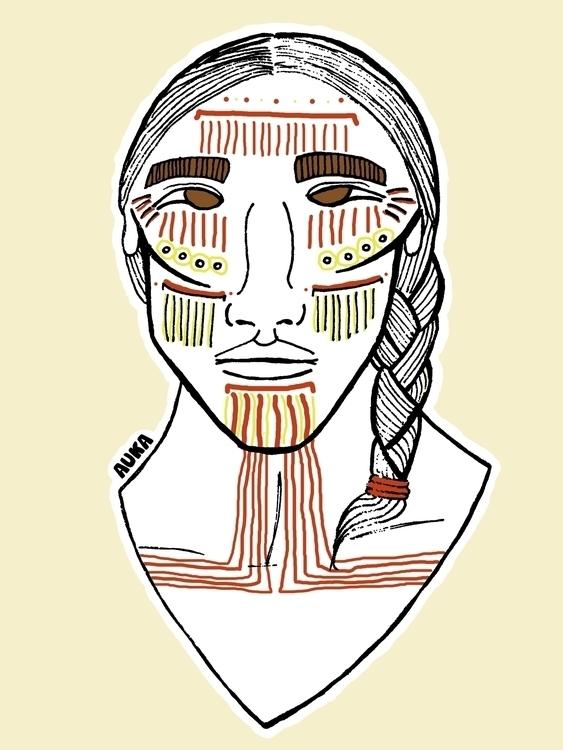 Cochimí - illustration, characterdesign - kumavilla | ello