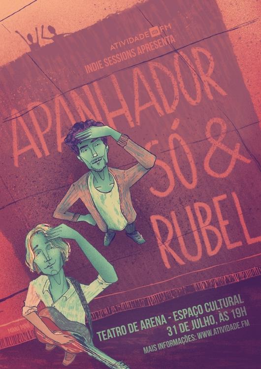 Apanhador só Rubel - illustration - minnamr | ello