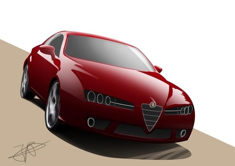 Alfa Romeo Brera render. Line s - dijkstrajorn | ello