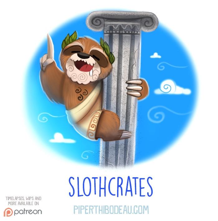 Daily Paint 1540. Slothcrates - piperthibodeau | ello