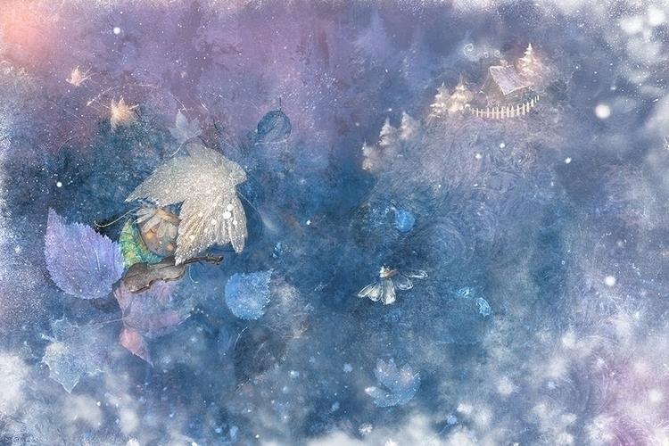 lullaby grasshopper - illustration - smokepaint | ello