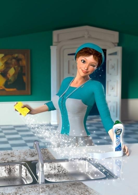 Cinderella Character - 3DArt, DigitalIllustration - vantage-9372 | ello