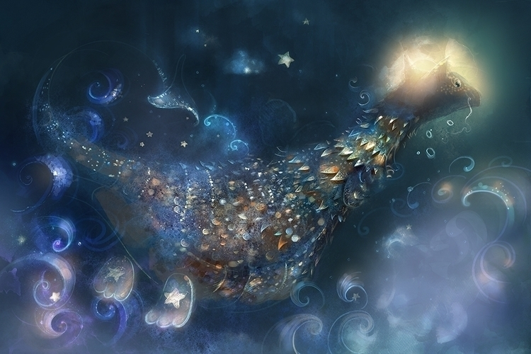 lullaby dragonet.3 - illustration - smokepaint | ello