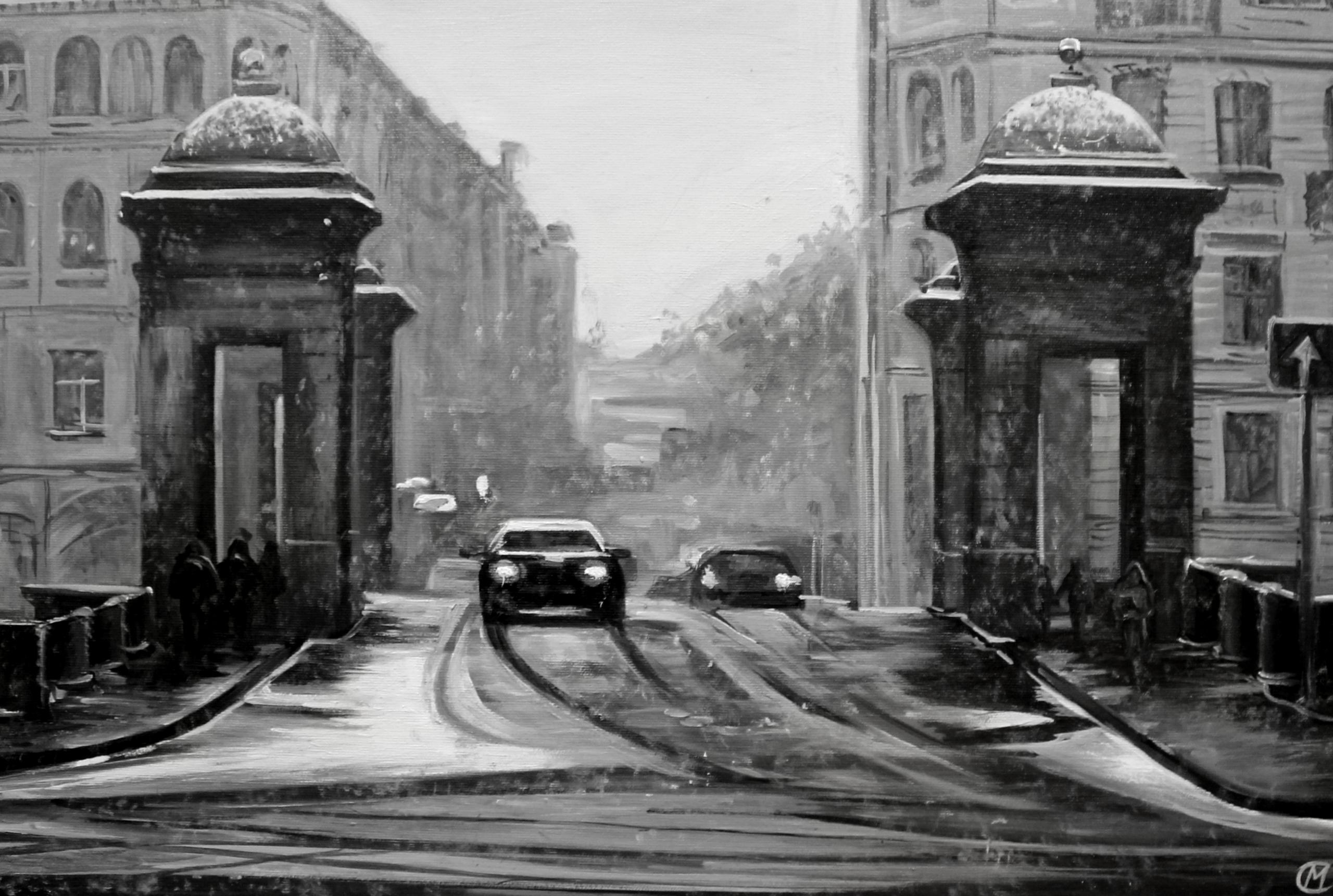 snow - street, city, car, kight - lanamarandina | ello