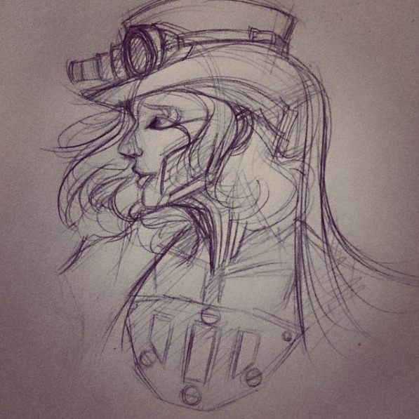 Sketch inked~ - BunnyBrush, illustration - bunnybrush   ello
