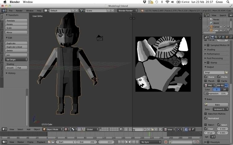 Character modeling (final - characterdesign - h3ml0ck | ello