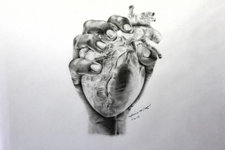 Hand Heart Drawing - handinheart - melissacookart | ello