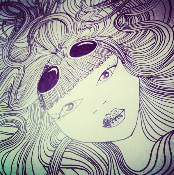 Magic hairs  - illustration, japan - louisalemarchand | ello