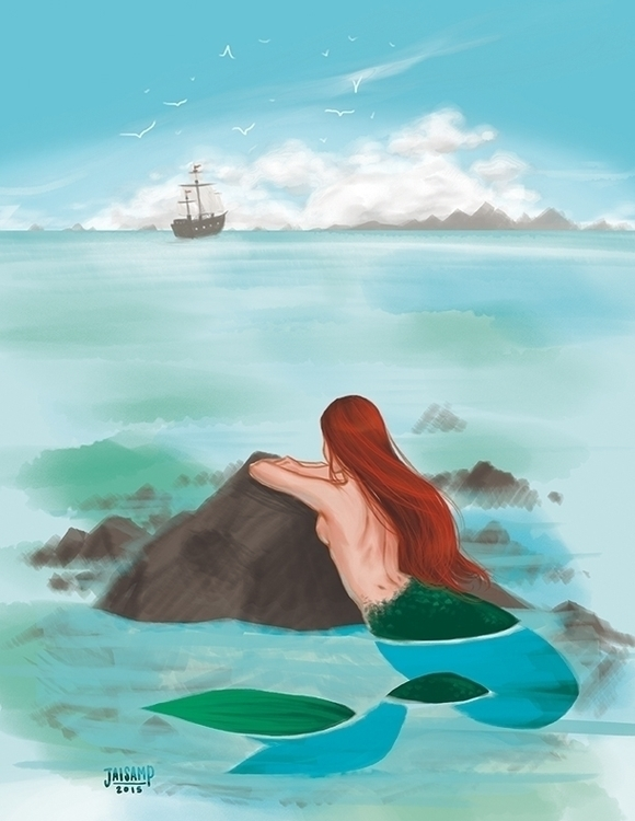 Mermaid Illustration - illustration - jaisamp | ello
