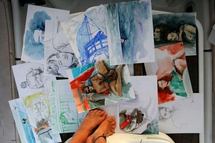 Sailing drawings Nathalie Cauvi - nathaliecauvi | ello