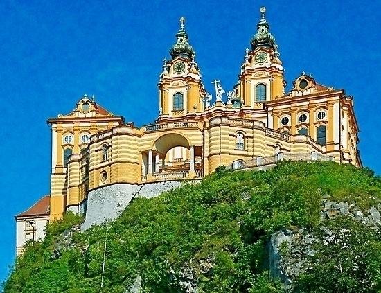 Melk abbey rock Danube valley,  - leo_brix | ello
