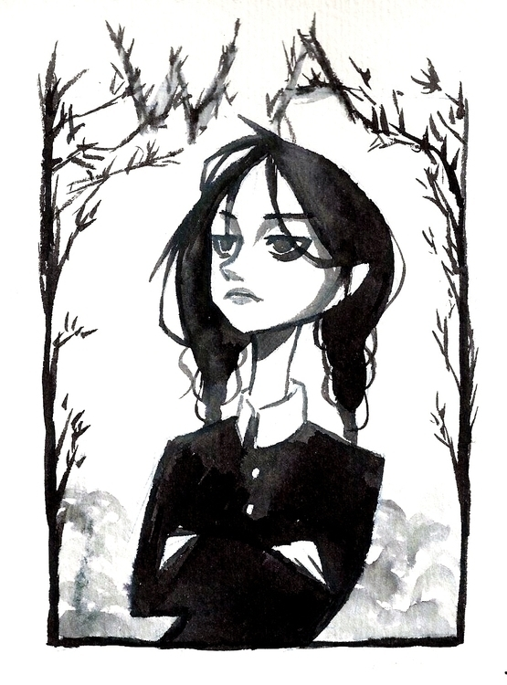 Wednesday Addams - wednesdayaddams - fishfranqz | ello