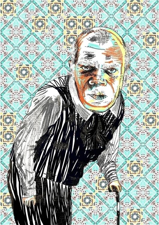 Samuel Jackson - Django - illustration - maitediez | ello